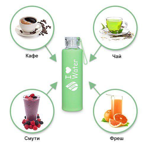 Бутилката Hygea Water запазва всички вкусови качества на напитките непроменени