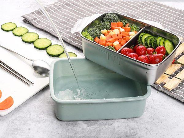 Лесно затопляне на храната с помощта на малко топла вода