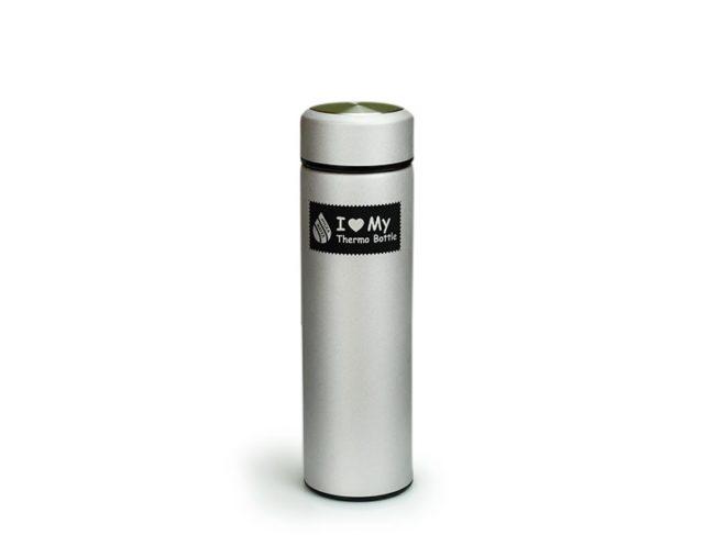 Термо бутилка Hygea Water - цвят Сребристо-сив