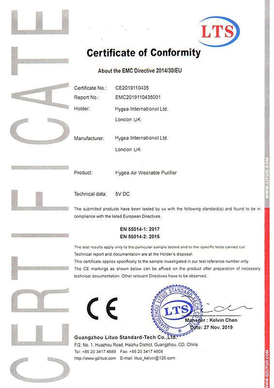 CE Hygea Air Wearbale Purifier