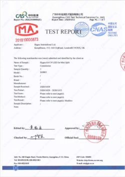 Hygea Air UV Led - Test report
